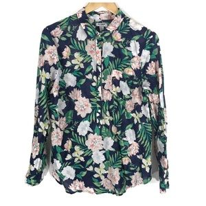 Old Navy Floral Long Sleeve Button Down Shirt L